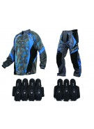 2013 Dye C13 Paintball Jersey & Pant Combo w/ Assault Harness - Atlas Blue