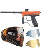 2011 Proto Rail PMR Paintball Gun w/ Dye I4 Mask & Dyetanium Lens - Dust Orange