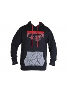Planet Eclipse Men's Retrostick Hooded Sweatshirt - Black