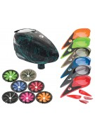 Dye Rotor Paintball Loader w/ Quick Feed & Color Kit - Dyetree Aqua