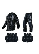 2013 Dye C13 Paintball Jersey & Pant Combo w/ Assault Harness - Cubix Gray