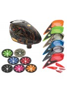 Dye Rotor Paintball Loader w/ Quick Feed & Color Kit - Dyetree Orange