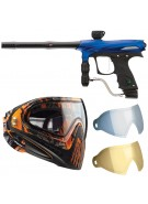 2011 Proto Rail PMR Paintball Gun w/ Dye I4 Mask & Dyetanium Lens - Dust Blue