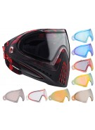 Dye Invision Goggle I4 Pro Mask w/ Additional Mirror Lens - Cubix Red