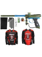 2012 Proto Reflex Rail Paintball Gun w/ Ironmen Jersey - Olive/Teal Dust