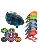 Dye Rotor Paintball Loader w/ Quick Feed & Color Kit - Cubix Cyan