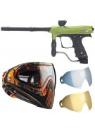 2011 Proto Rail PMR Paintball Gun w/ Dye I4 Mask & Dyetanium Lens - Dust Lime