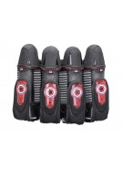 GI Sportz 4+5 Race Pack Paintball Harness - Black/Red