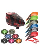 Dye Rotor Paintball Loader w/ Quick Feed & Color Kit - Cubix Red