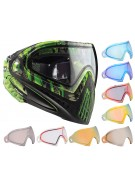 Dye Invision Goggle I4 Pro Mask w/ Additional Mirror Lens - Lime Tiger