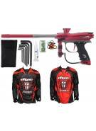 2012 Proto Reflex Rail Paintball Gun w/ Ironmen Jersey - Red/Grey Dust