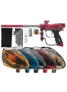 2012 Proto Reflex Rail Paintball Gun w/ Rotor Loader - Red/Grey Dust