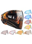 Dye Invision Goggle I4 Pro Mask w/ Additional Mirror Lens - Orange Tiger