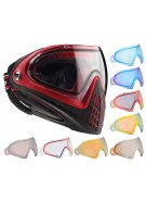 Dye Invision Goggle I4 Pro Mask w/ Additional Mirror Lens - Red