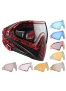 Dye Invision Goggle I4 Pro Mask w/ Additional Mirror Lens - Red Cloth