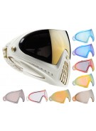 Dye Invision Goggle I4 Pro Mask w/ Additional Mirror Lens - White/Gold