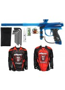 2012 Proto Reflex Rail Paintball Gun w/ Ironmen Jersey - Blue/Teal Dust
