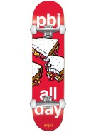Enjoi PBJ All Day - Red - 8.0 - Complete Skateboard