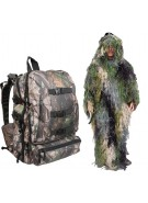 Bushrag Ghillie Pack & 4-in-1 Suit - Woodland