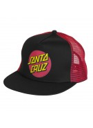 Santa Cruz Classic Dot Trucker Mesh Hat - One Size Fits All - Black/Red