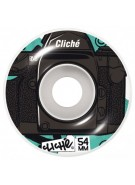 Cliche Lenses Wheel - Black/Teal - 54mm - Skateboard Wheels