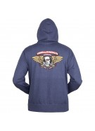 Powell Peralta Winged Ripper Hooded Zip - Navy - Mens Sweatshirt
