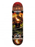 Darkstar Midknight First Push - Red - 7.6 - Complete Skateboard