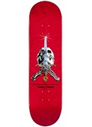 "Powell Classic Rodriguez Skull and Sword - Red - 8.75"" - Skateboard Deck"