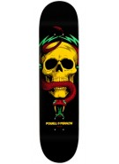 "Powell Peralta Blacklight McGill Skull and Snake 6 - Rasta - 7.625"" - Skateboard Deck"
