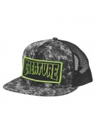Creature Patch Distressed Trucker Mesh - Black/Green - Mens Hat