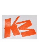 KM Logo Sticker - Orange