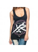 Young and Reckless Power Circle Tank Top- Black - Women's Long Tank Top