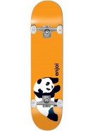 Enjoi Original Panda - Orange - 7.5 - Complete Skateboard