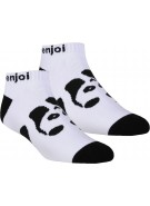 Enjoi Panda Feet Ankle Sock - White - Mens Socks