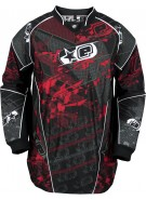 Planet Eclipse EVX Distortion Paintball Jersey - Fire