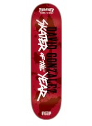 Flip David Gonzalez SOTY Skater of The Year - Red - 8in x 31.5in - Skateboard Deck