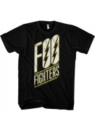 Foo Fighters Band Slanted Logo - Black - Band T-Shirt