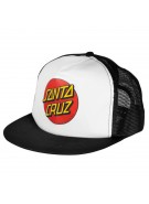 Santa Cruz Classic Dot Trucker Mesh Hat - One Size Fits All - Black/White- Mens Hat