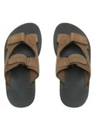 Flojo's Akila Suede Velcro Sandals - Brown