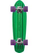 Globe Bantam Retro Rippers - Green/Raw/Clear Purple - Mini Cruiser 7x24 - Complete Skateboard