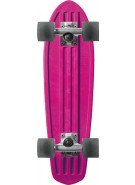 Globe Bantam Retro Rippers - Pink/Raw/Clear Black - Mini Cruiser 7x24 - Complete Skateboard