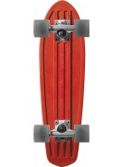 Globe Bantam Retro Rippers - Red/Raw/Clear Black - Mini Cruiser 7x24 - Complete Skateboard