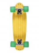 Globe Bantam Retro Rippers - Yellow/Raw/Clear Green - Mini Cruiser 7x24 - Complete Skateboard