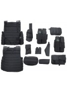 Gen X Global Flak Jacket Molle Paintball Vest - Black