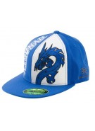Empire Dynasty Dragon Men's Fitted Hat - Blue