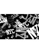 Hater Gun Graffiti - NYC Pattern Black
