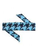 HK Army Headband - Houndstooth Blue