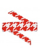 HK Army Headband - Houndstooth Red