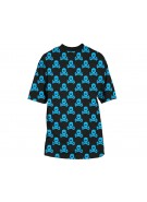 HK Army All Over Paintball T-Shirt - Black/Turquoise