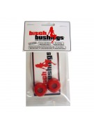 Khiro Bitch Bushing Set Red Med-soft Top/bottom - Skateboard Bushings